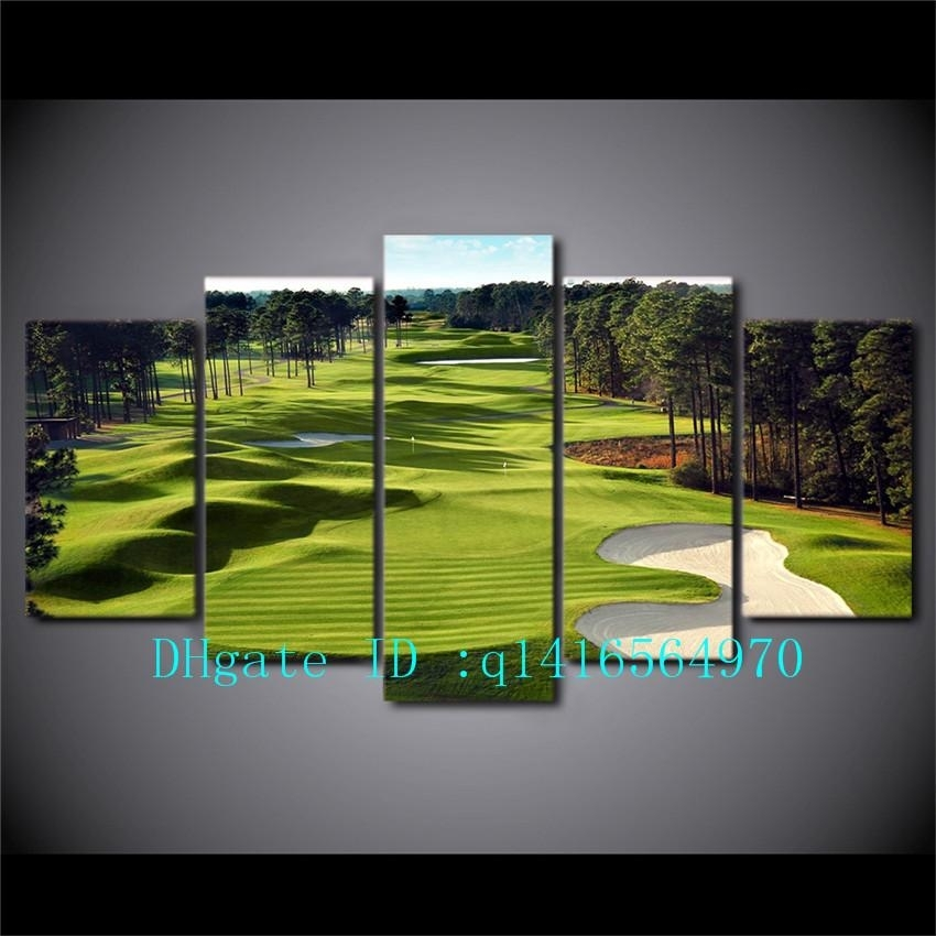 2018 Golf Course,canvas Prints Wall Art Oil Painting Home Decor Intended For Golf Canvas Wall Art (View 6 of 25)