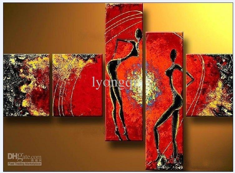 2018 Hand Painted Hi Q Modern Abstract Art Figure Oil Painting In Modern Abstract Painting Wall Art (Image 3 of 25)
