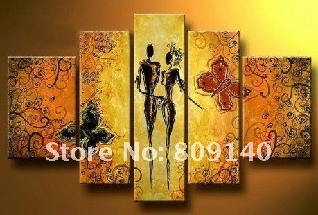 2018 Kitchen Dining Room Oil Painting Canvas Stretched Artwork in Modern Abstract Painting Wall Art