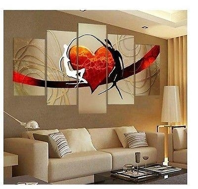 2018 Large Canvas No Frame Modern Hand Draw Art Oil Painting Wall Regarding Large Canvas Painting Wall Art (View 6 of 25)