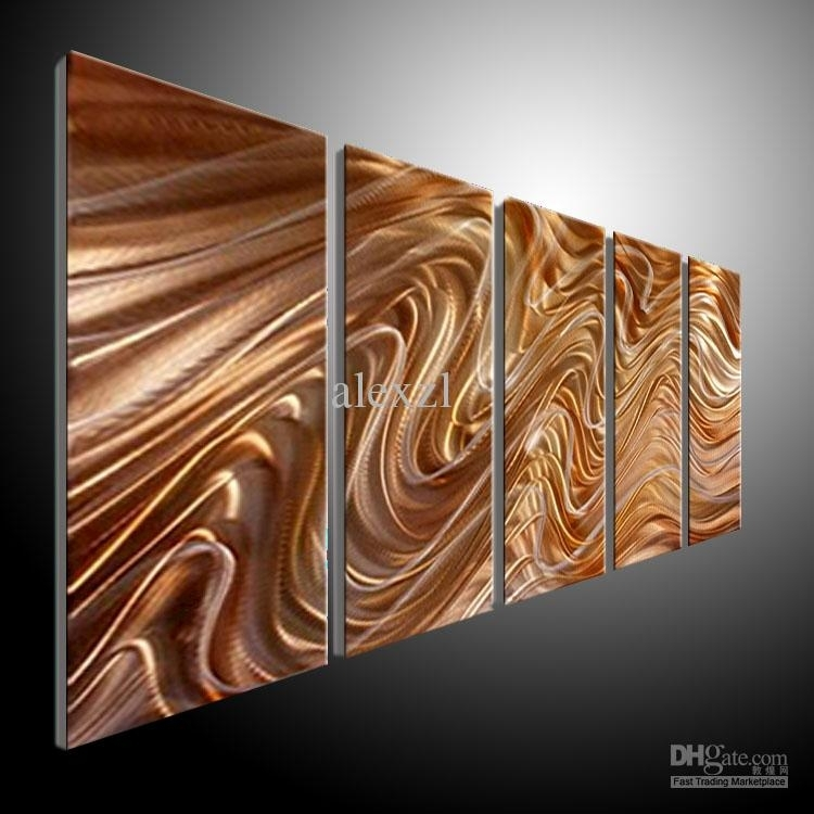 2018 Metal Wall Art Abstract Contemporary Sculpture Home Decor Throughout Contemporary Metal Wall Art (Image 1 of 10)