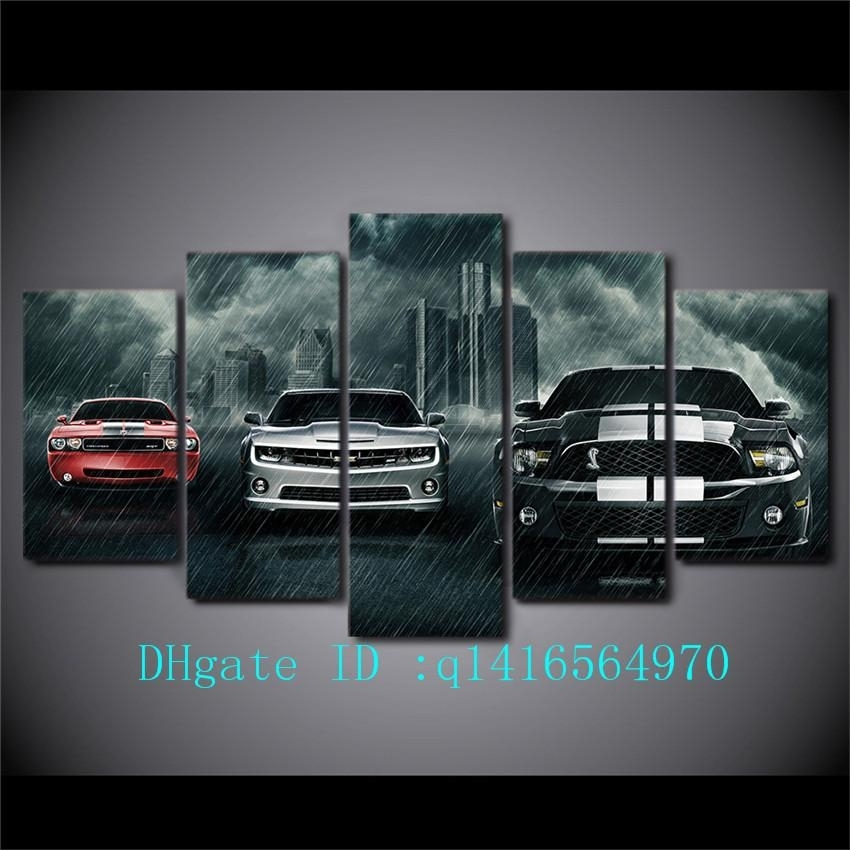 2018 Muscle Cars,canvas Prints Wall Art Oil Painting Home Decor In Car Canvas Wall Art (View 3 of 25)