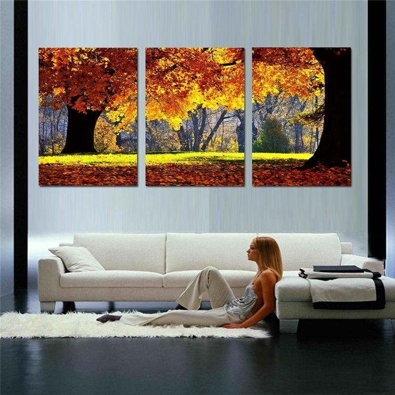2018 Nature Canvas Art Painting Scenery Pattern For Living Room Wall Pertaining To Nature Wall Art (Image 2 of 25)