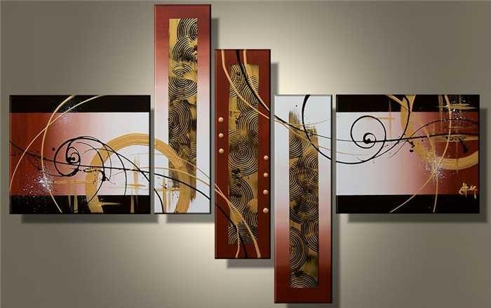 2018 Wall Art Hot Sale Handmade Group Oil Painting On Canvas For intended for 5 Piece Wall Art Canvas