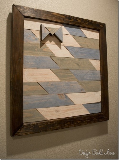 21 Diy Wood Wall Art Pieces For Any Room And Interior – Shelterness With Wood Wall Art Diy (Image 3 of 10)