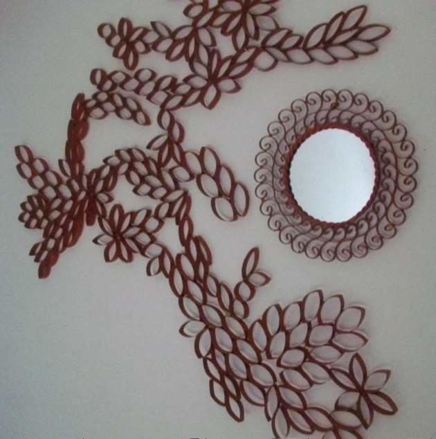 25 Creative Diy Toilet Paper Roll Wall Art Inside Toilet Paper Roll Wall Art (Image 2 of 25)