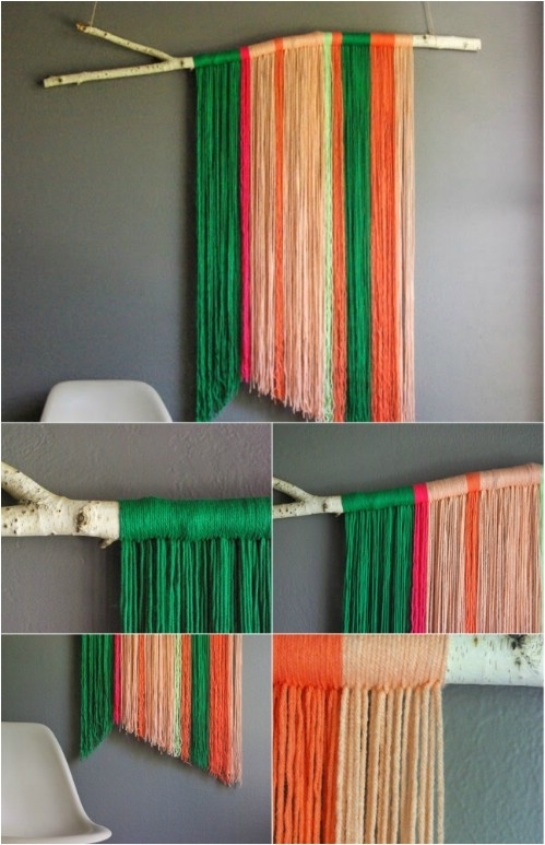 26 Easy And Gorgeous Diy Wall Art Projects That Absolutely Anyone Inside Yarn Wall Art (Image 1 of 25)