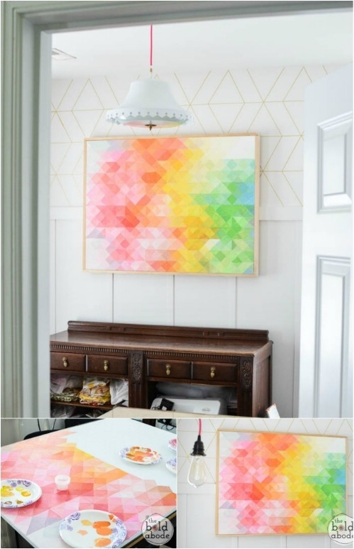 26 Easy And Gorgeous Diy Wall Art Projects That Absolutely Anyone Pertaining To Diy Wall Art Projects (Image 7 of 25)