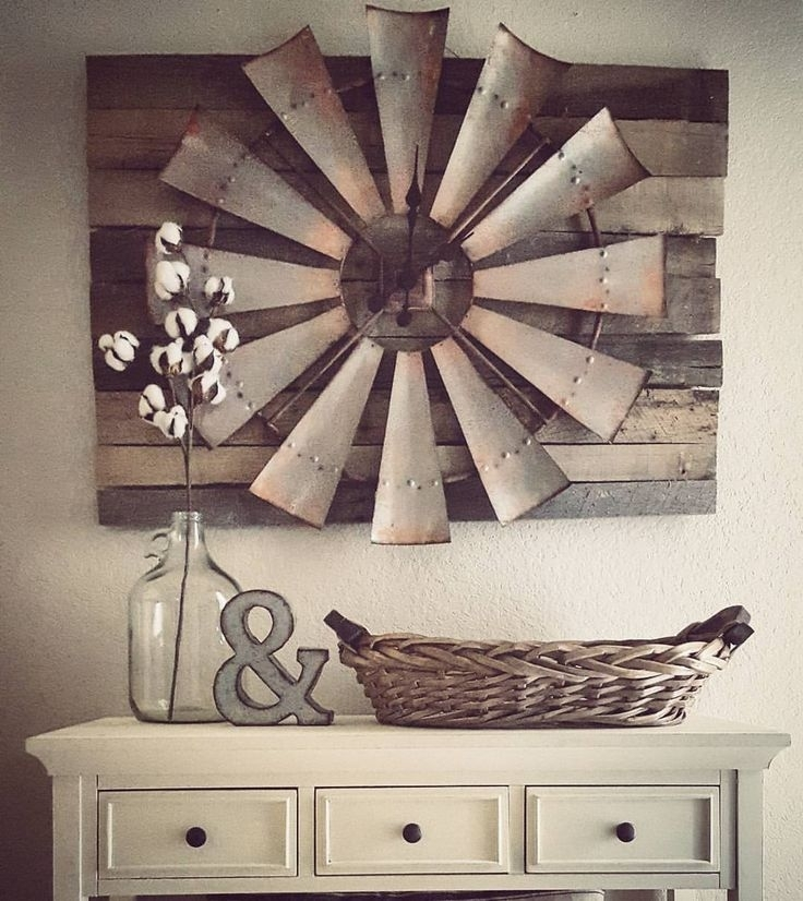 27 Rustic Wall Decor Ideas To Turn Shabby Into Fabulous | Home Sweet In Windmill Wall Art (Image 3 of 20)
