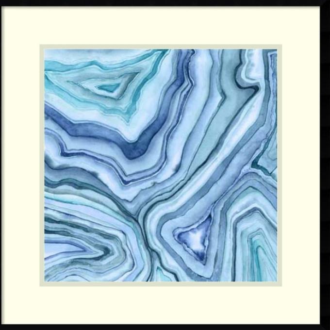 28 Agate Wall Art Print, Agate Sea Green Texture Framed Art Print With Regard To Agate Wall Art (View 24 of 25)