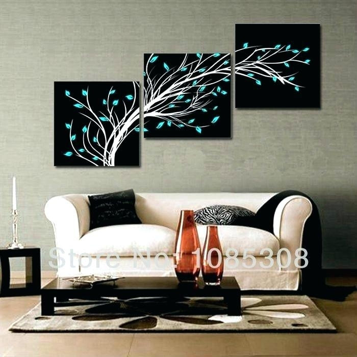 3 Piece Abstract Wall Art Home Decor 3 Piece Canvas Wall Art Oil For 3 Piece Canvas Wall Art (Photo 8 of 20)