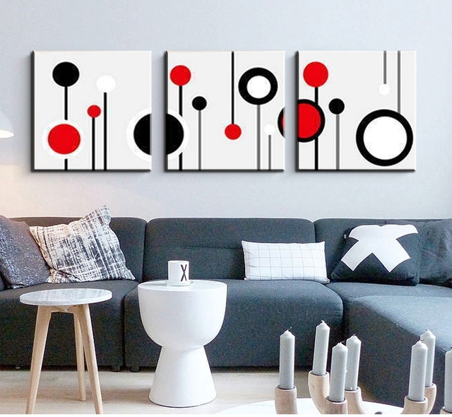 3 Piece Canvas Wall Art Wall Picture Modern Wall Abstract Oil Canvas Regarding 3 Piece Canvas Wall Art (Image 8 of 20)