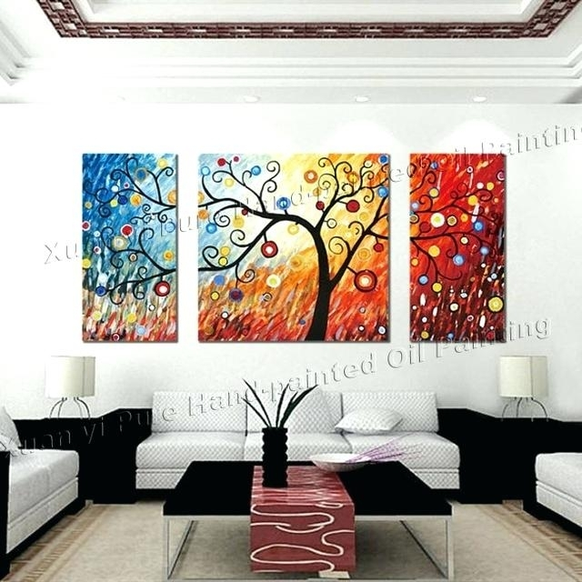 3 Piece Wall Art 3 Piece Canvas Wall Art Large Modern Abstract Wall Regarding 3 Piece Canvas Wall Art (Photo 12 of 20)