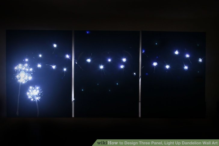 3 Ways To Design Three Panel, Light Up Dandelion Wall Art Intended For Light Up Wall Art (Photo 8 of 25)