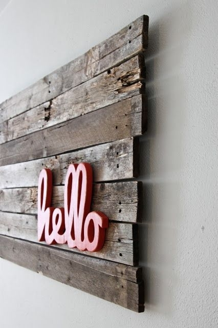 30 Fantastic Diy Pallets Wall Art Ideas | Products I Love within Pallet Wall Art