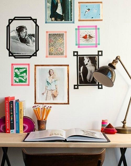 30+ Fun Washi Tape Ideas + Downtown Tape Washi Giveaway! | Apartment throughout Washi Tape Wall Art
