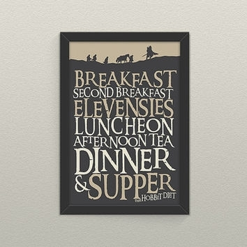 30% Off Lord Of The Rings Inspired Hobbit From 716 Designs Intended For Lord Of The Rings Wall Art (Photo 17 of 20)