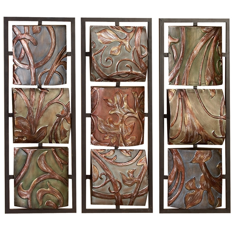 33 Impressive Design Wood And Metal Art Flower Wall Decor Set Red With Wood And Metal Wall Art (Photo 7 of 25)