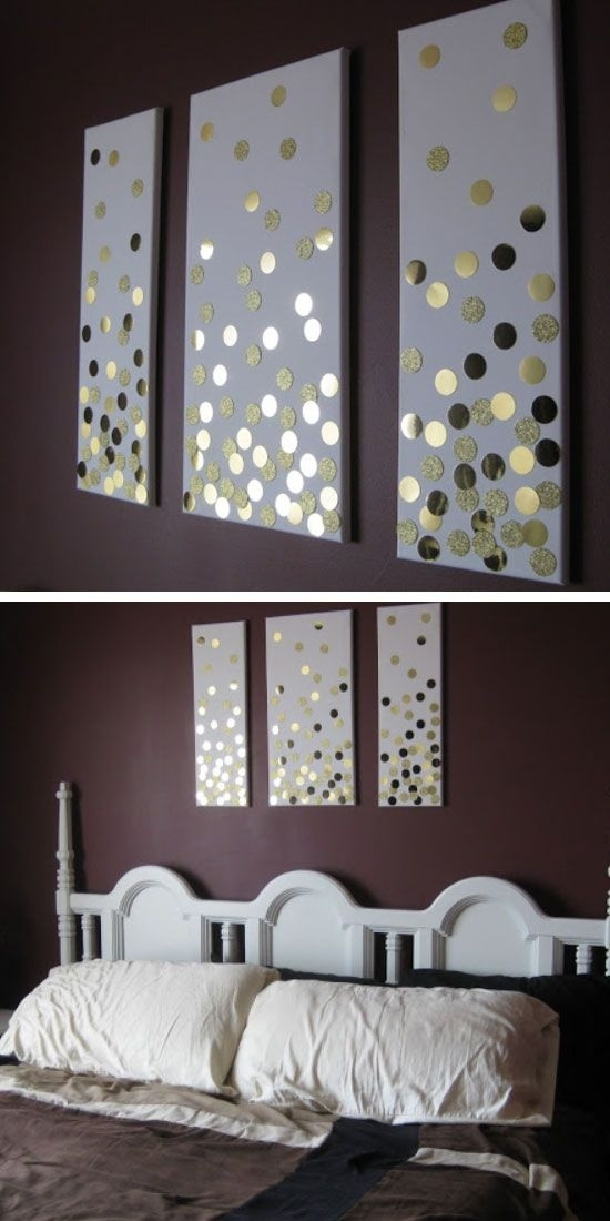 35 Creative Diy Wall Art Ideas For Your Home | Diy Home Decor for Gray Canvas Wall Art