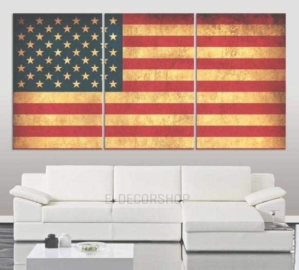 35 Ideas Of Vintage American Flag Wall Art, Vintage American Flag With Vintage American Flag Wall Art (Image 1 of 25)
