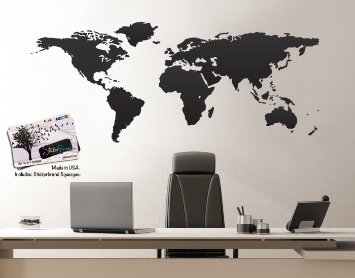 37 Eye Catching World Map Posters You Should Hang On Your Walls Throughout Wall Art Map Of World (Photo 3 of 25)
