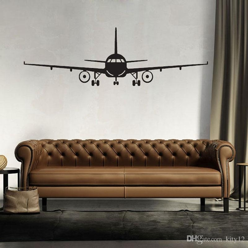 3D Airplane Wall Stickers Muraux Wall Decor Airplane Wall Art Decal Throughout Aviation Wall Art (Image 3 of 25)
