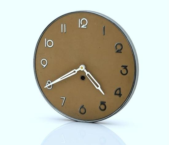 3D Art Deco Wall Clock Model- Poser World Professional 3D Models intended for Art Deco Wall Clock