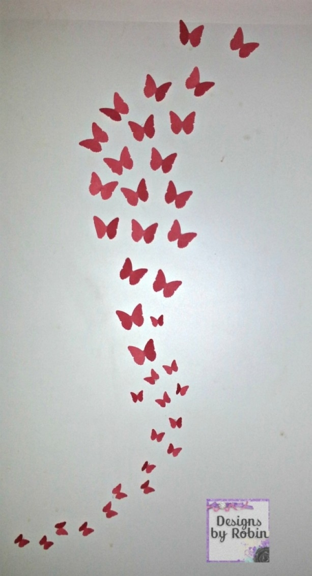 3D Butterfly Wall Art, Swarm Of Butterflies,wall Art, Baby Room D With Butterfly Wall Art (View 2 of 10)