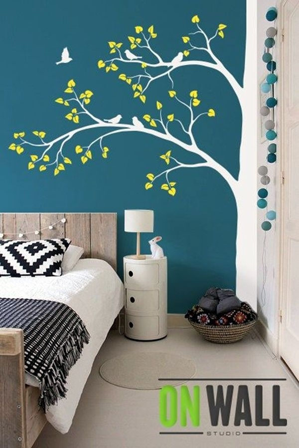 40 Elegant Wall Painting Ideas For Your Beloved Home | Pokojik Pertaining To Art For Walls (View 13 of 25)