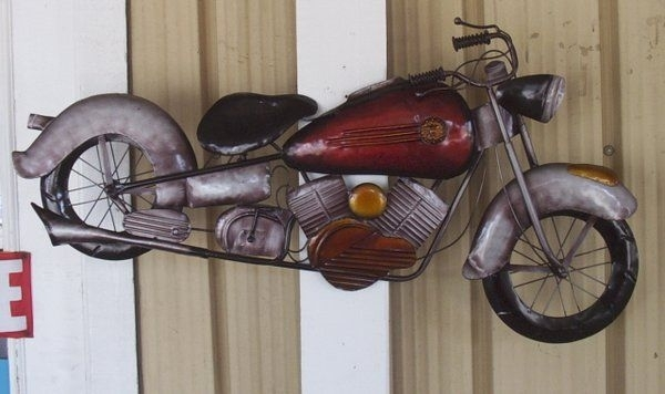 40 Inch Metal Motorcycle Wall Art | The Boys | Pinterest | Scooters intended for Motorcycle Wall Art