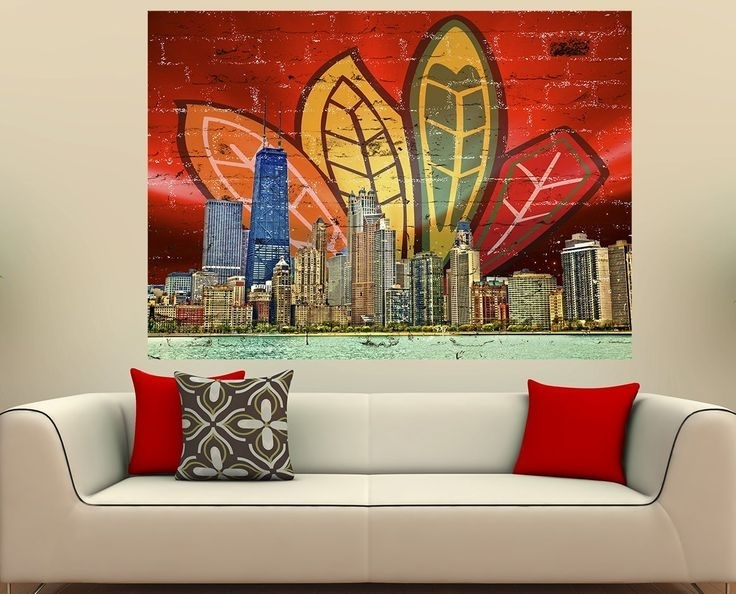 402 Best Blackhawks Images On Pinterest Blackhawks Hockey Chicago Inside Chicago Wall Art (Image 1 of 10)