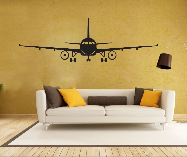4028 3D Airplane Wall Stickers Muraux Wall Decor Airplane Wall Art With Regard To Airplane Wall Art (Image 2 of 20)