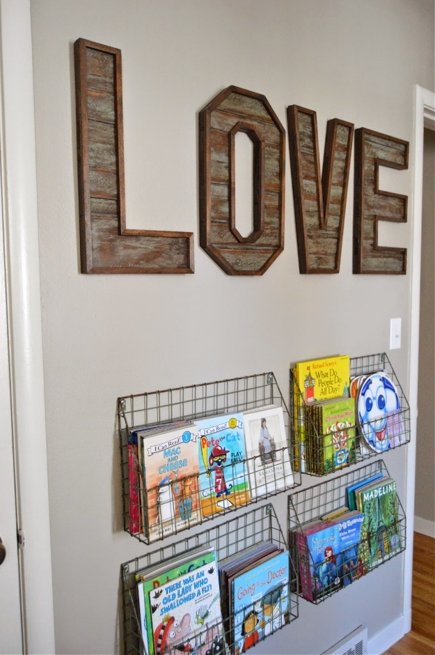 41 Amazing Diy Architectural Letters For Your Walls Pertaining To Letter Wall Art (Image 1 of 25)