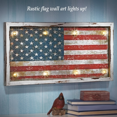 44 Rustic American Flag Wall Art, Black And Wood American Flag Home pertaining to Rustic American Flag Wall Art