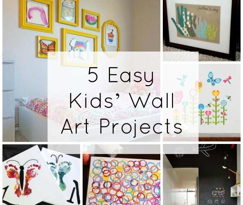 5 Easy Kids' Wall Art Projects | Fine Art Mom with Kids Wall Art