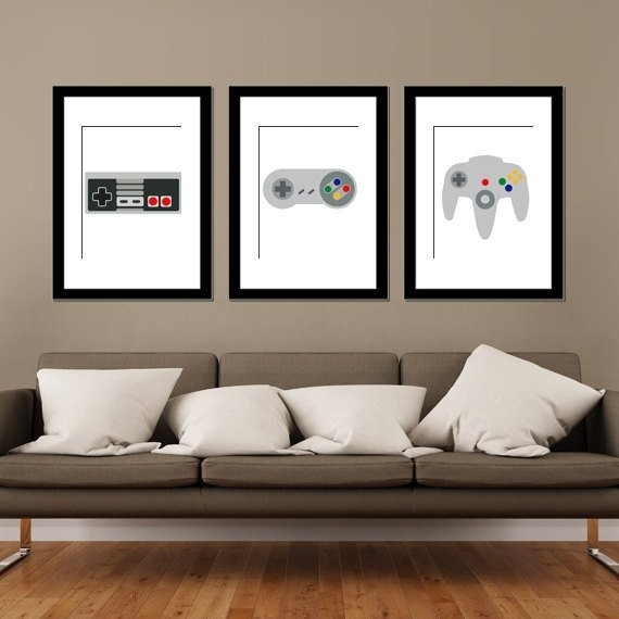 5 Geek Art Nintendo Prints For Your Man Cave | Geektak Intended For Nintendo Wall Art (Image 2 of 20)