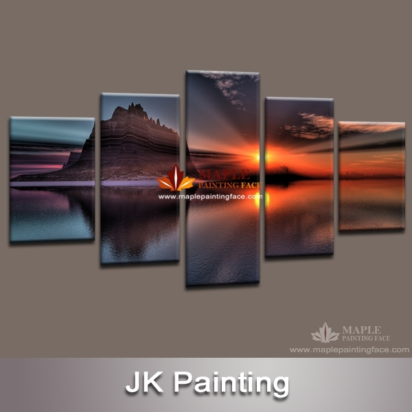 5 Panel Canvas Art Oil Modern Paintings Wall Decor Canvas Home Throughout 5 Panel Wall Art (Image 5 of 25)