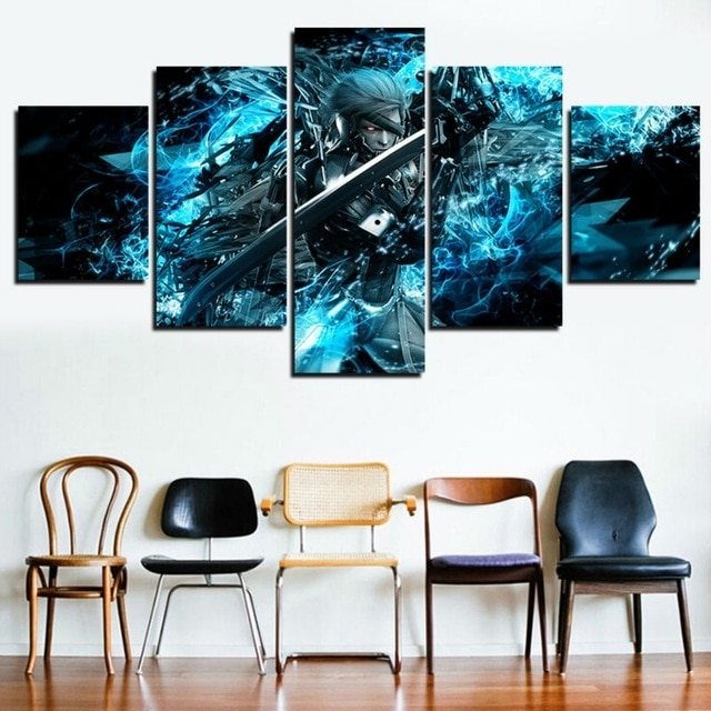 5 Panel Canvas Painting Pictures Metal Gear Solid Home Decor For Intended For 5 Panel Wall Art (Image 7 of 25)