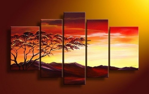 5 Piece Art, 5 Piece Canvas Art Sets Intended For 5 Piece Wall Art (Image 4 of 25)