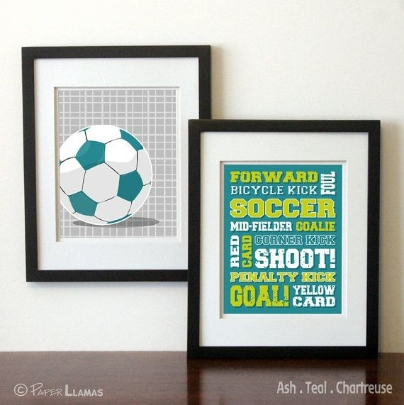 57 Best Will's Room Images On Pinterest | Nursery, Child Room And Throughout Soccer Wall Art (Image 2 of 25)