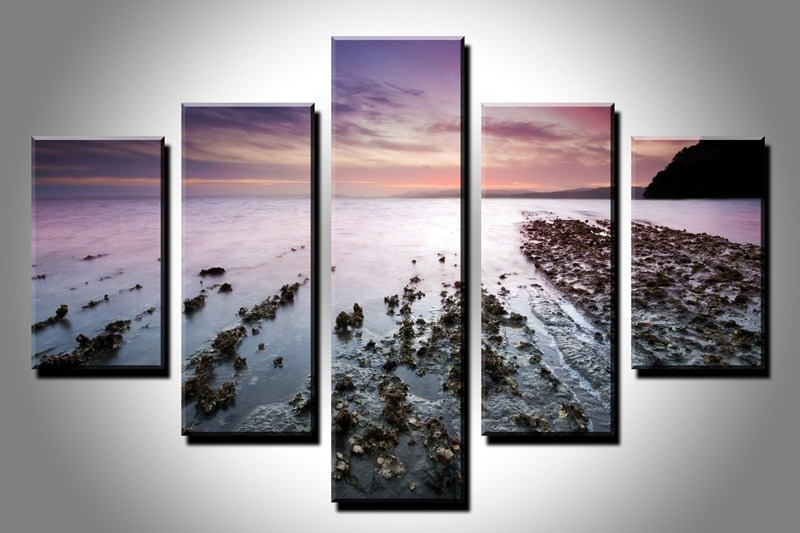 5Pc Hd Canvas Print Home Decor Wall Art Painting Nature Scenery within Nature Wall Art