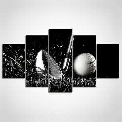 5Pcs Ysdafen Golf Framed Decorative Canvas Print -$55.37 Online for Golf Canvas Wall Art