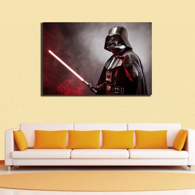 60×90×3Cm Star Wars Darth Vader Canvas Prints Framed Wall Art Decor throughout Darth Vader Wall Art