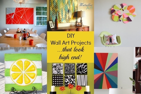 7 Gorgeous Diy Wall Art Projects That Look High End | Blissfully intended for Diy Wall Art Projects