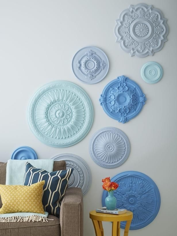 7 Ways To Fill Up Your Walls | Hgtv Magazine | Pinterest | Ceiling regarding Ceiling Medallion Wall Art