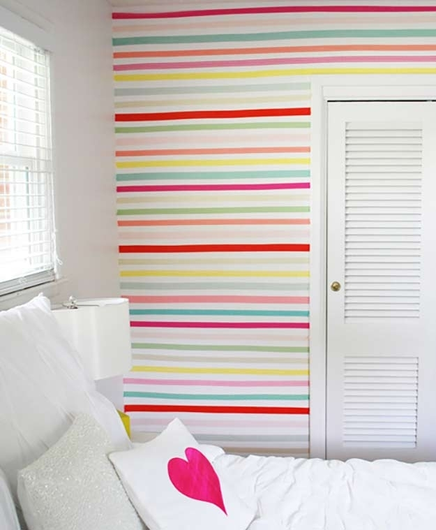 78 Best Washi Tape Ideas Ever regarding Washi Tape Wall Art