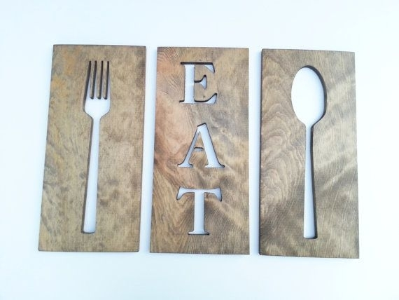 83 Best Kitchen Wall Art Fork Spoon Knife Images On Pinterest Fork With Fork And Spoon Wall Art (Image 1 of 25)