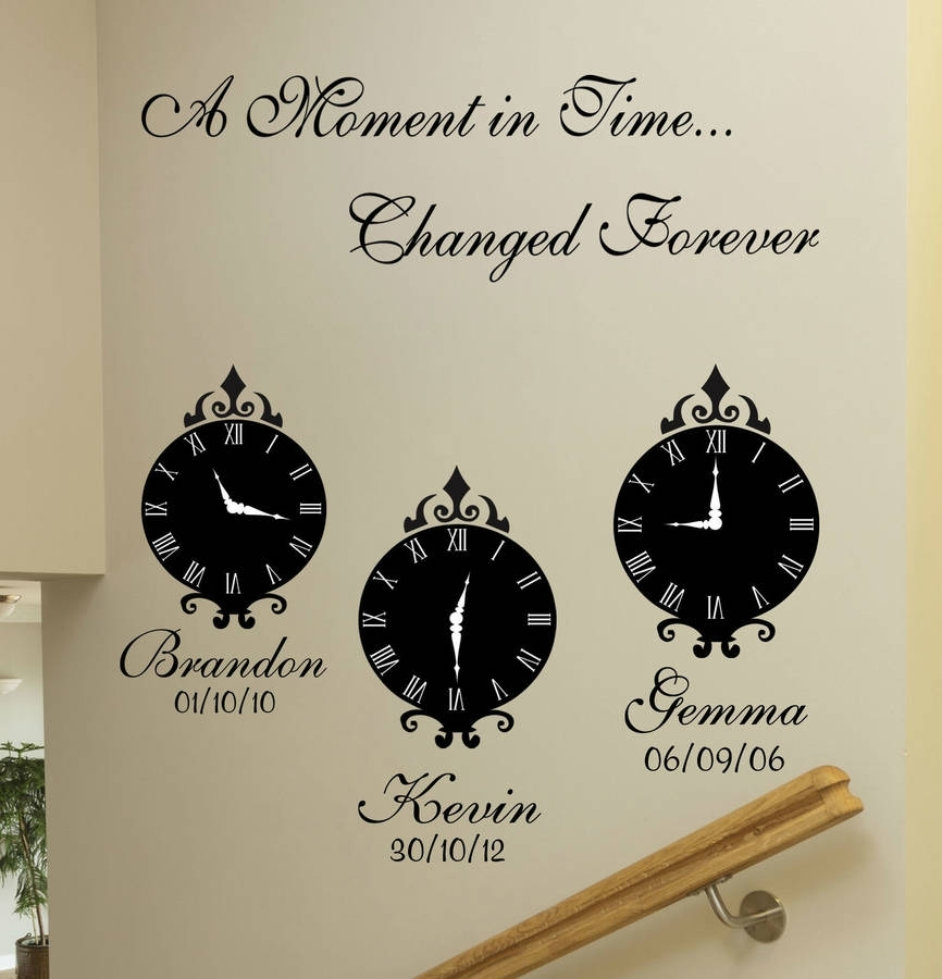 A Moment In Time' Wall Art Stickerswall Art Quotes & Designs With Wall Art Quotes (View 15 of 20)