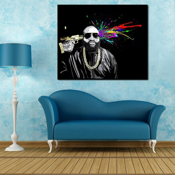 A1/a2/a3 Digital Canvas Prints Mastermind Rick Ross Great Figure Art Pertaining To Ross Wall Art (View 2 of 20)
