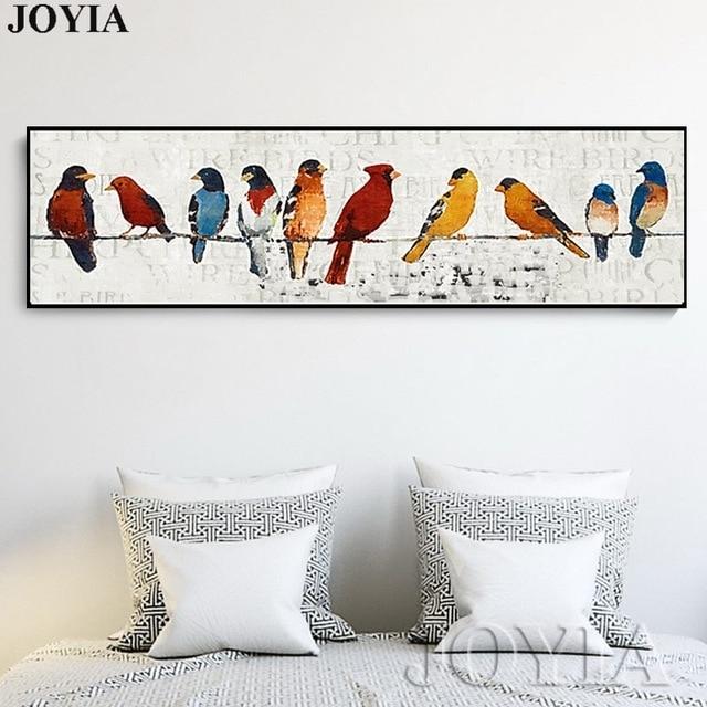 Abstract Bird Picture Classic Decor Sparrow Group Wire Little Birds Regarding Bird Wall Art (Image 1 of 10)